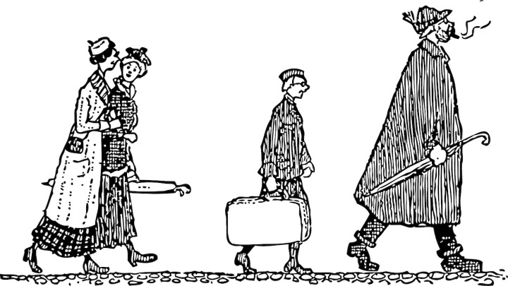 Sketch of Travelers
