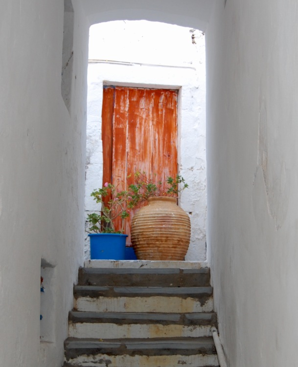 chora-kythera-orange-door-3