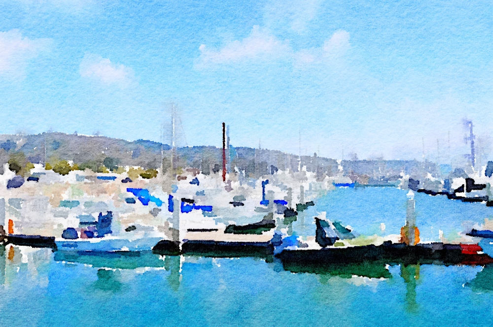 half-moon-bay-pillar-point-harbor-waterlogue