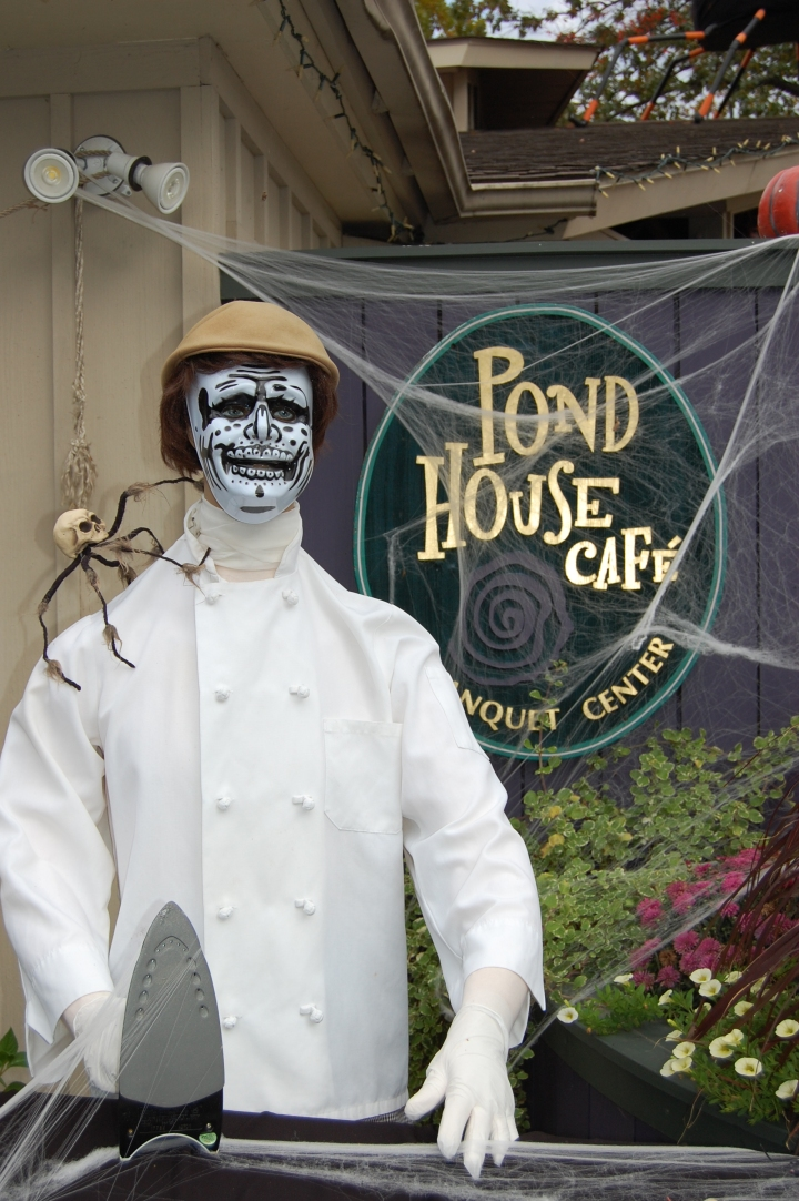JNW's Halloween Challenge: Skeleton – The Pond House Café in West Hartford, Connecticut