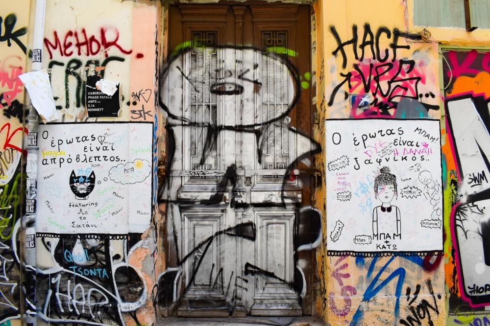 Street Art Door Plaka