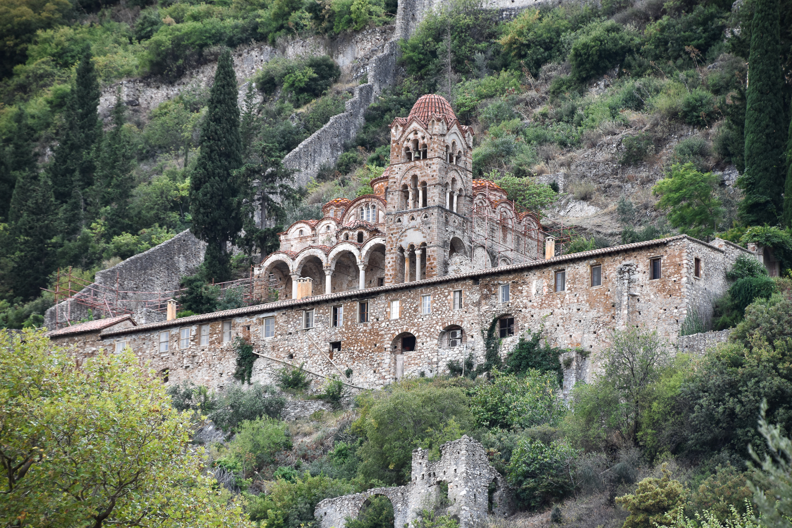 View of Pantanassa Mystras
