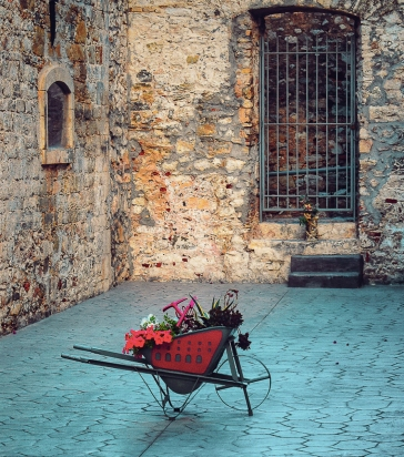 Red Wheelbarrow in Nafplio 2