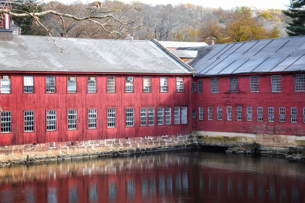 Late Autumn Afternoon at the Former Collins Axe Factory in Collinsville, CT