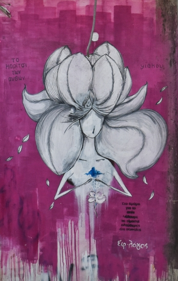 """Artist Yiakou creates """"poetic street art"""" of beautiful girl figures."""
