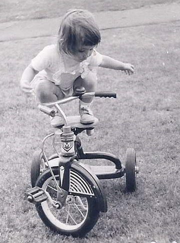 Balancing on my tricycle 2