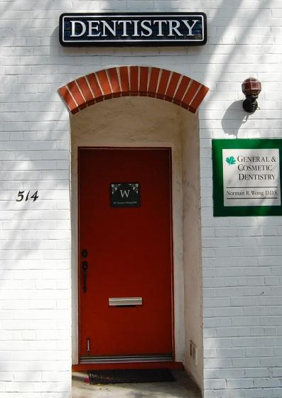Pleasanton Dental Office Door