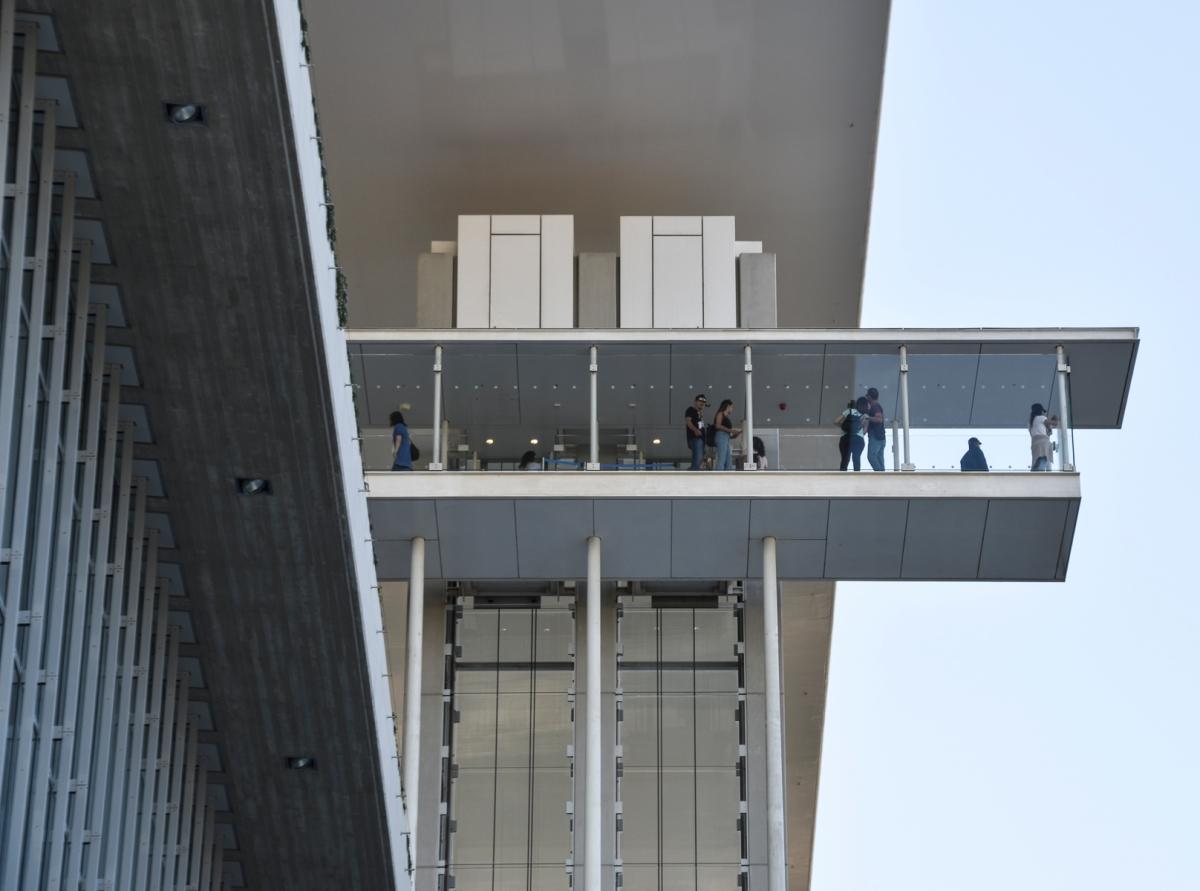 Skywalk at the Athens Cultural Center
