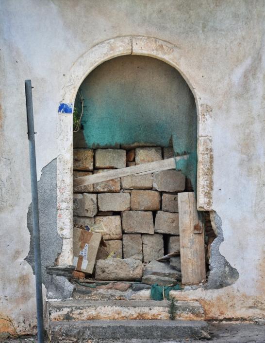 Empty Door with Bricks