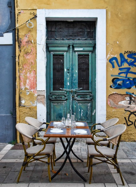 Streetside Dining in Old Town Ioannina L